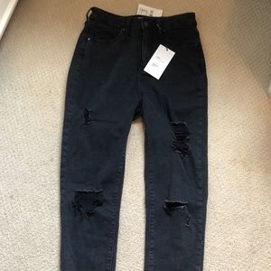 Black skinny jeans with rips from forever 21